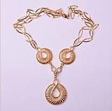 中东合金饰品外贸项链定制生产厂家 新奇镂空圆形速卖通热销贝壳项链