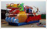 巡游活动中的龙彩车制作,龙花车制作,龙彩船制作