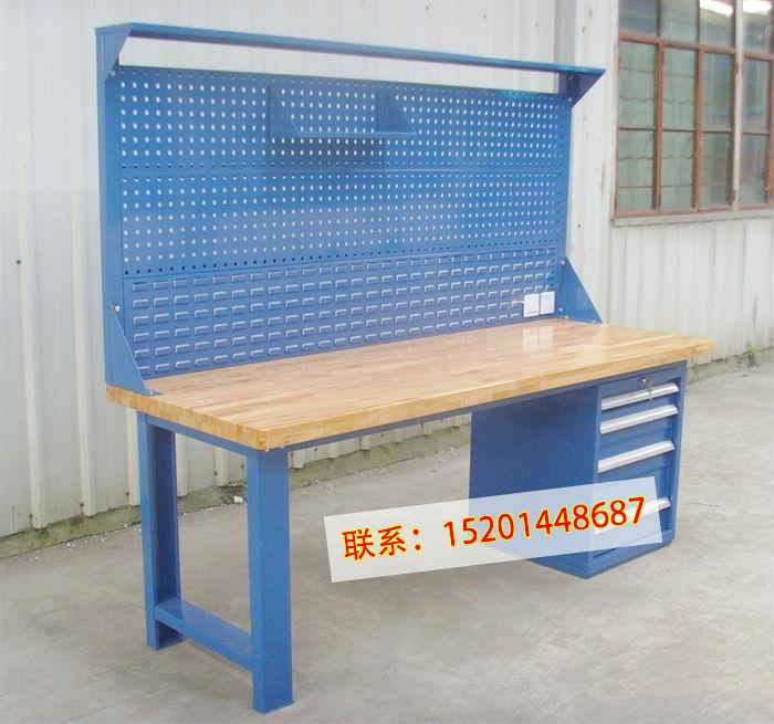 北京格诺实木重型工作台榉木钳工工作桌