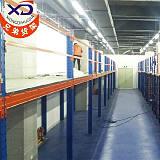 厂家直销供应商钢制阁楼式货架,汽配组合式阁楼平台