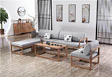 贵州木言木语实木沙发 中式沙发客厅转角沙发 黄菠萝木新中式家具