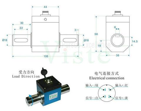 深圳动态力矩传感器,正反旋转转矩转速传感器