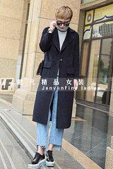 高档品牌羊绒大衣|折扣女装库存|时尚秋冬女装批发