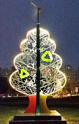 上海供应塑景不锈钢镂空雕塑 城市景观灯光雕塑厂家订做;
