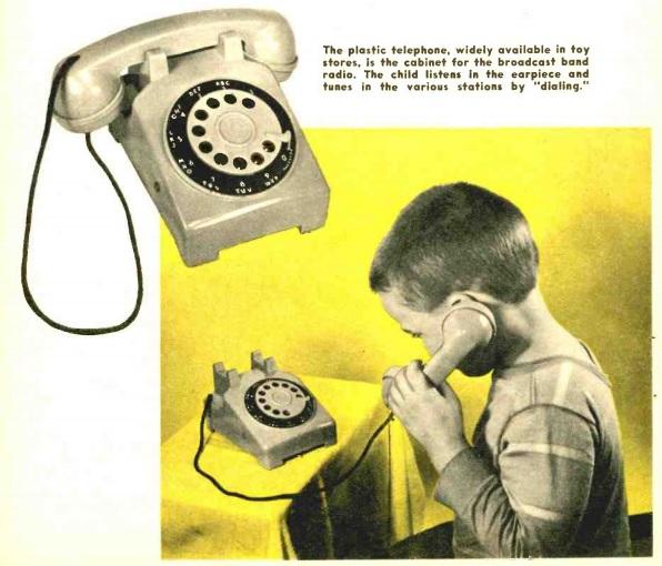 1958年雙晶體管電路玩具電話收音機,改變接收機的傳統模樣