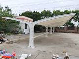 膜结构车棚电动车棚高档遮阳园区停车棚充电桩雨棚拉膜棚;